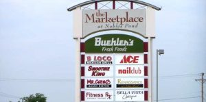 The Marketplace Custom Pole Sign