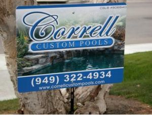 Custom yard Signs Pool Company Jupiter, FL