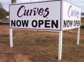 Post & Panel Signs Curves Post Panel